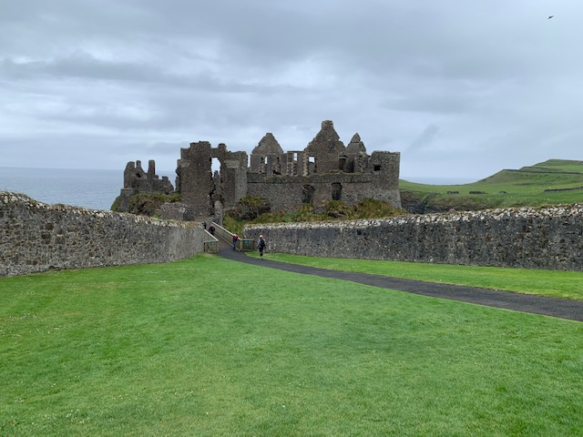 Dunluce Castle ruins. Perched right on the edge of the cliff, this castle is amazingly well preserved. I really enjoyed hiking up the coast along the cliffs and seeing this up ahead.