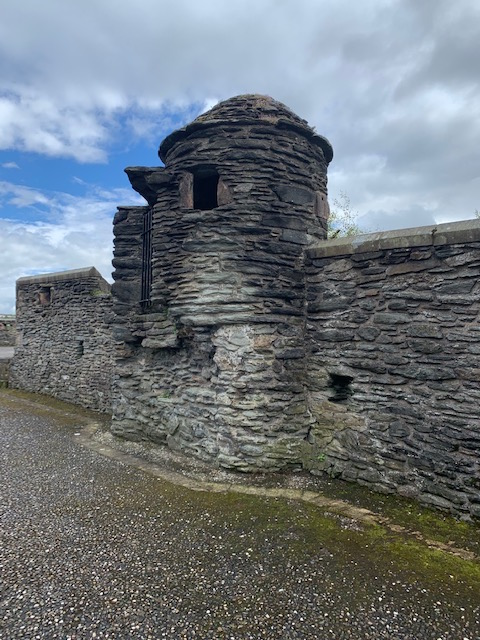 One of the guard towers in the wall of The Walled City of Derry (Londonderry).