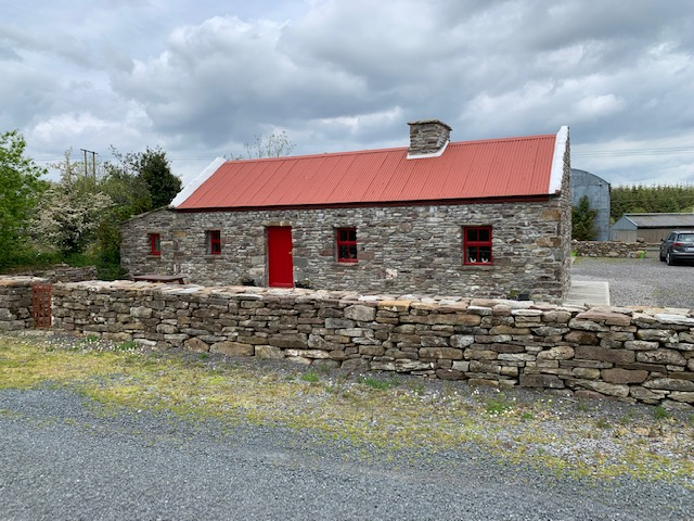 Ireland West Farm Stay cottage - Carracastle, Ireland. Our host built this replica of his family's homestead.While here we toured his peat bog, visited a blacksmith, and a local cheesemaker.