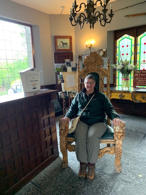 There was a throne at the Abbeyglen Castle hotel. I had to sit in it.