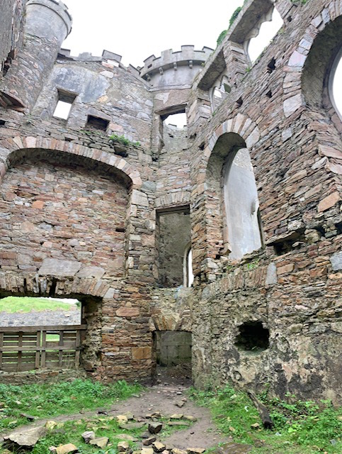 Clifden Castle ruins inside.