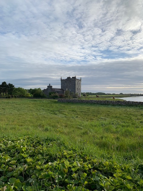 Kilcolgan Castle Hotel. We stayed in the tower. Near Galway.