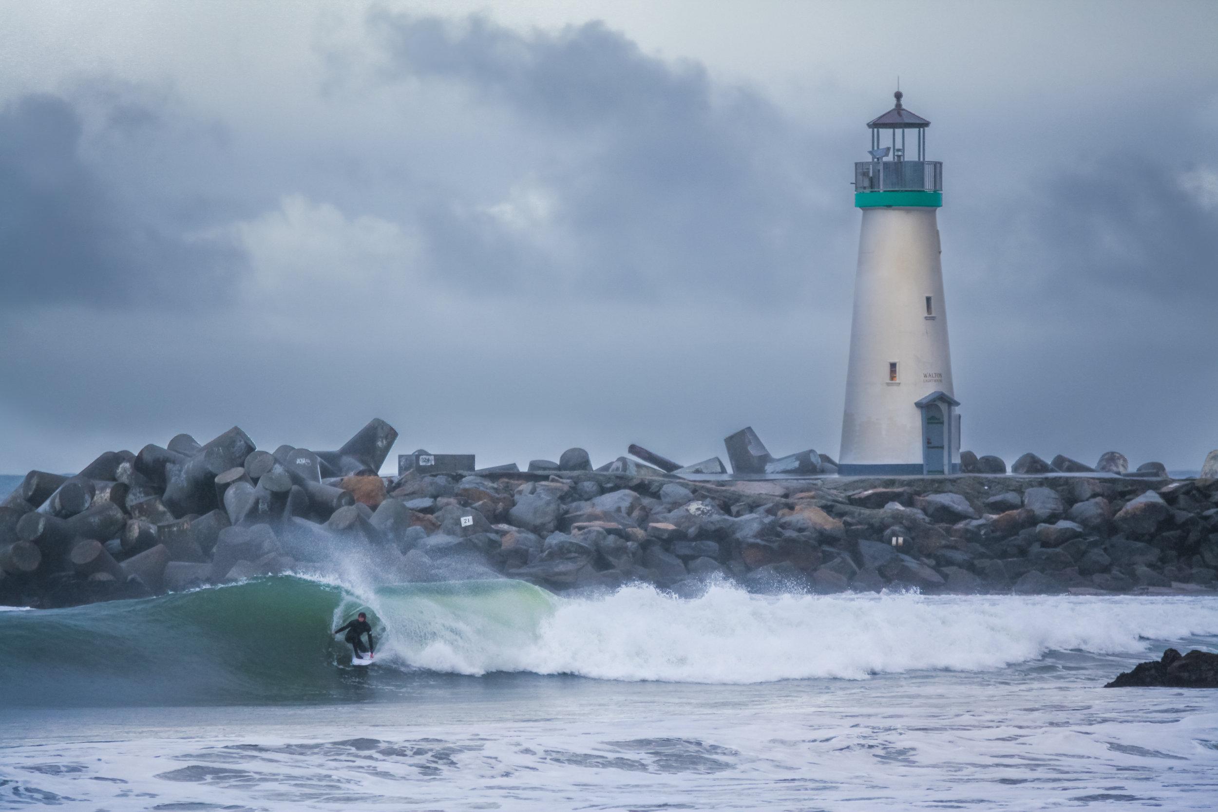 Walton Lighthouse at Santa Cruz Harbor -- Photo by  Steven B Herbert