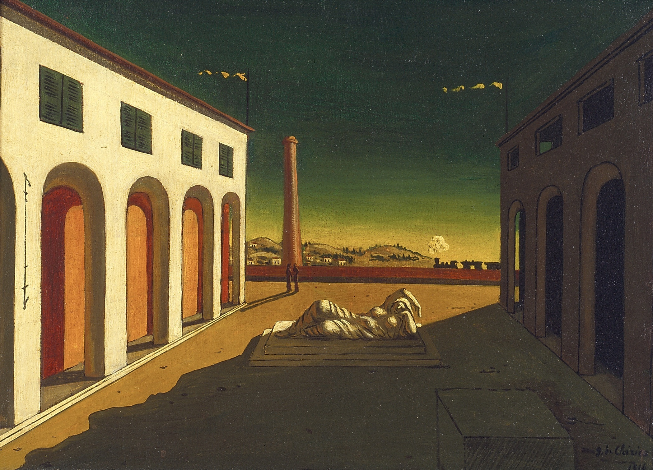 de Chirico. I want to get this weird.