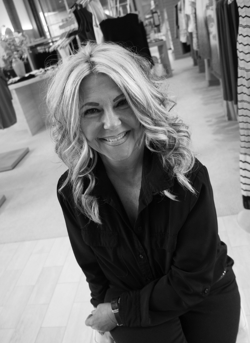 Sara Waters   Stylist, Floor Manager  (405) 418-7328   Coming to us with an extensive background in working with women and their closets, Sara has been an important member of our team for almost 15 years! She'll greet you with an infectious smile, and you'll leave wondering how you ever dressed yourself without her!