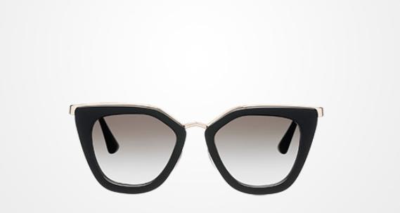 Prada - Cinema Gradient Sunglasses   Black