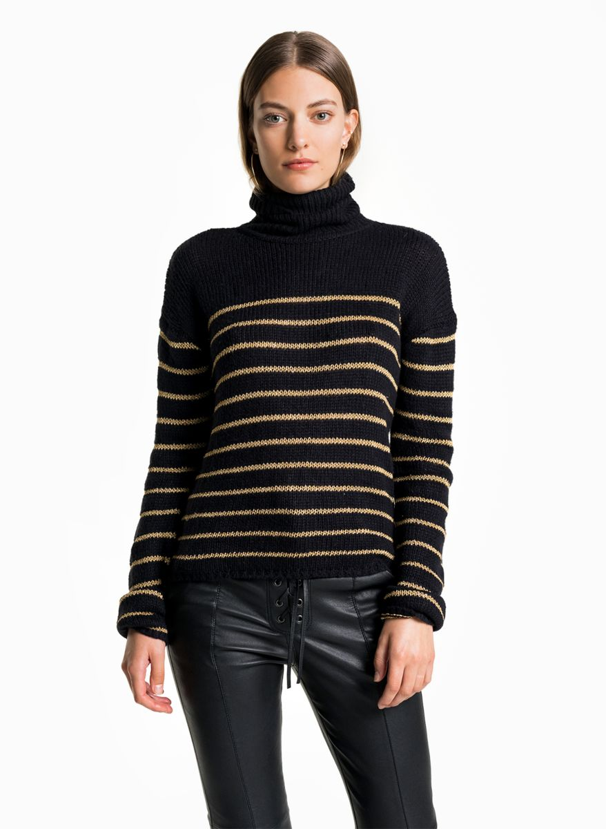 A.L.C. - Elisa Sweater   Black/Gold