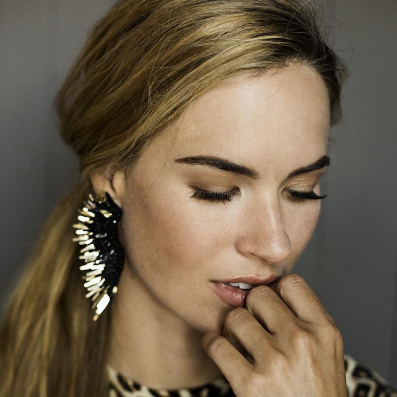 Mignonne Gavigan - Madline Earrings   Black/Gold