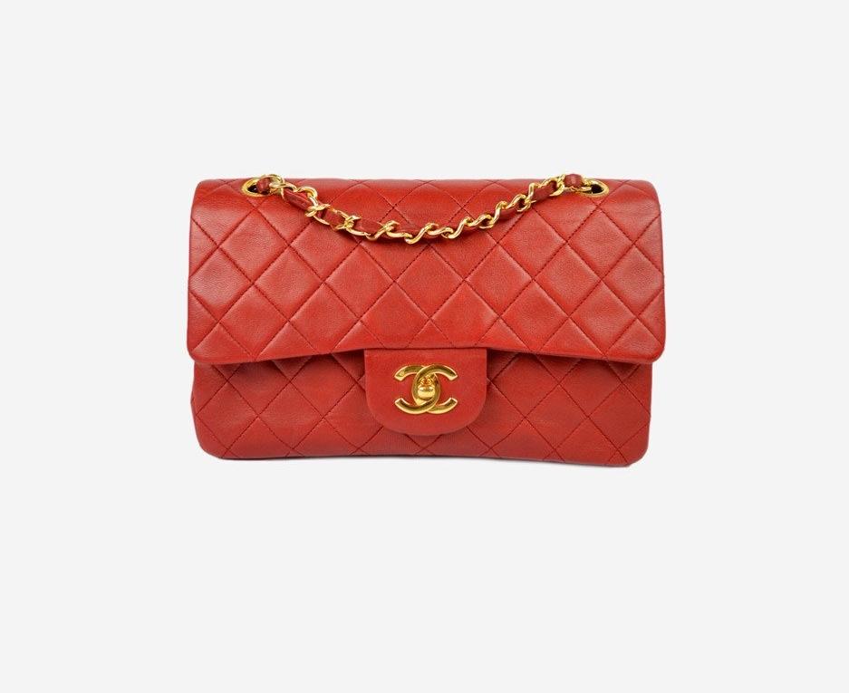 """Chanel - Lambskin 2.55 9""""   Red"""