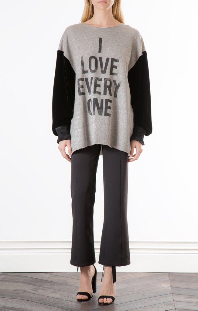 Cinq a Sept I Love Everyone Sweatshirt   Grey