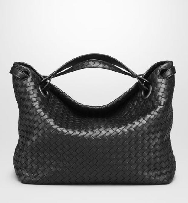 Bottega Veneta Medium Shoulder Bag   Black