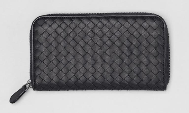 Bottega Veneta Zip Around Wallet   Black
