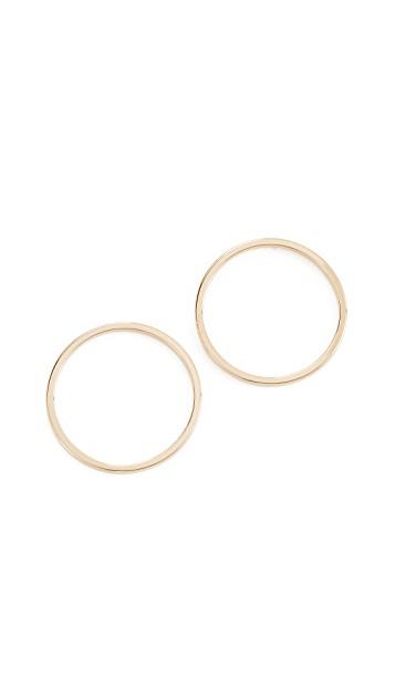 Cloverpost Nimbus Flat Hoop Earrings   Gold