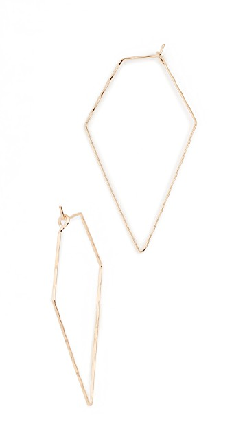 Cloverpost Pine Triangle Earrings   Gold