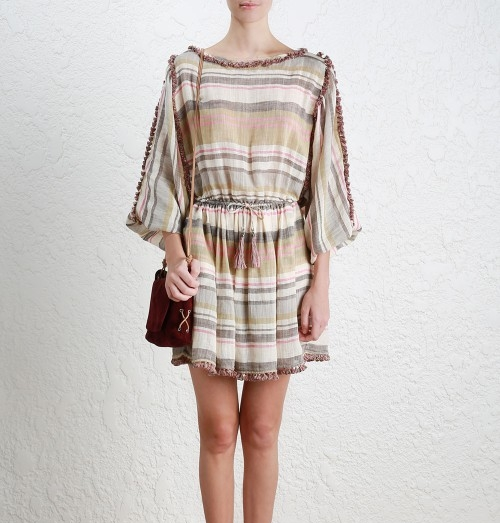 Zimmermann Mercer Stripe Day Dress   Multi