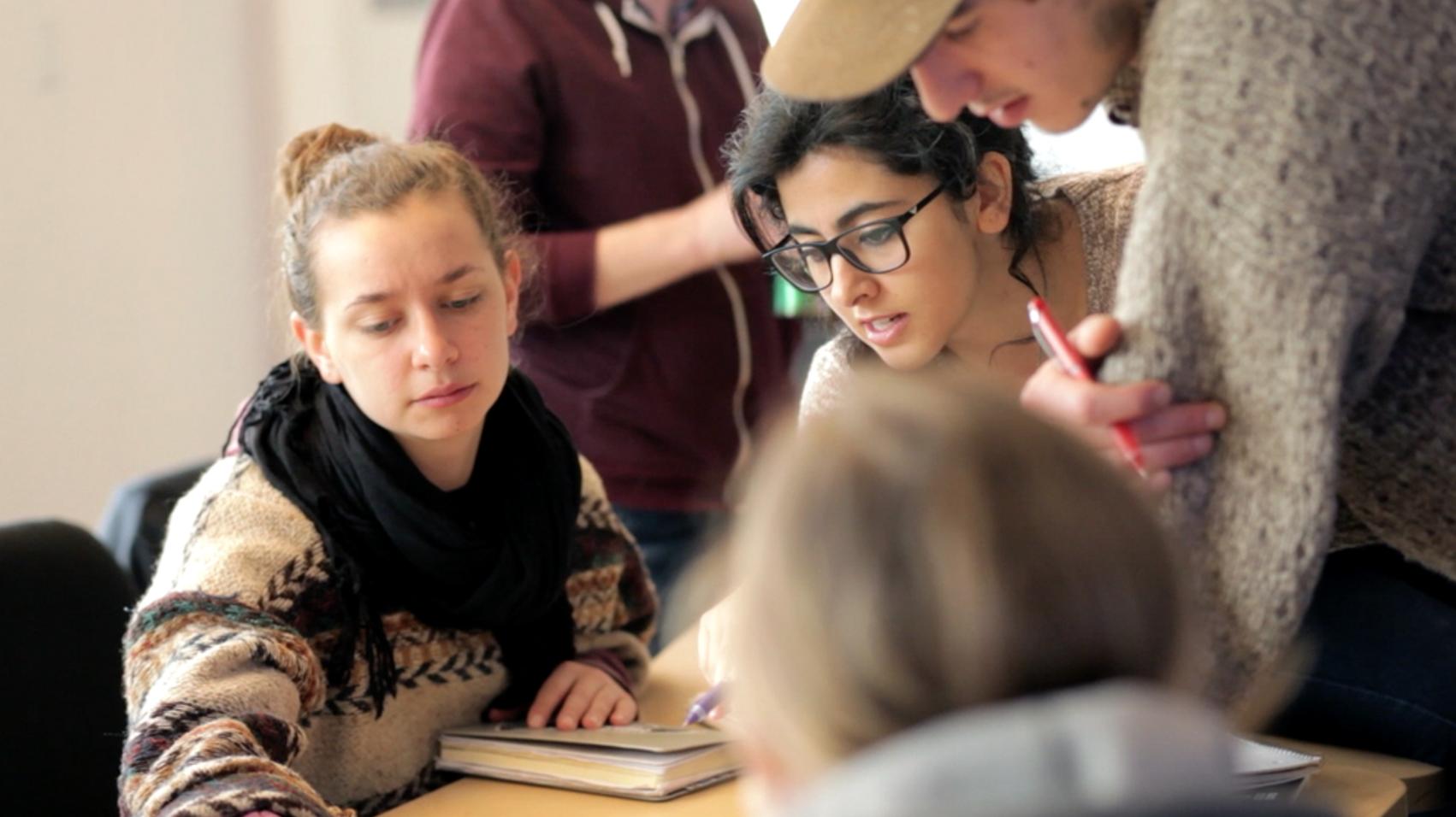 ECUAD students plan their public art presentations.