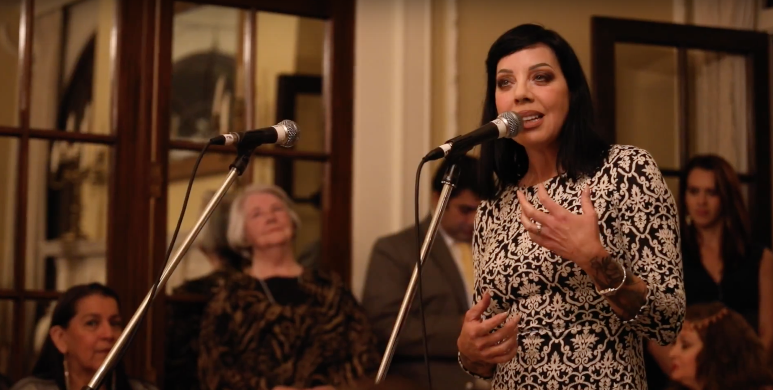 Bif Naked performs at the UN Women gala.