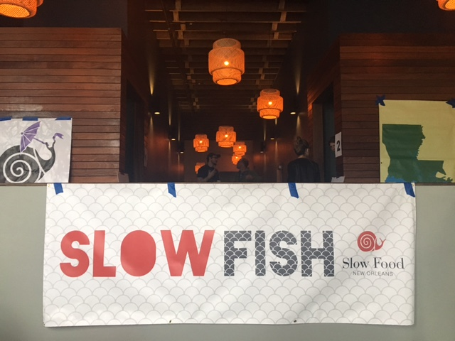 Due to inclement weather, Slow Fish was held at the Broad Theater in New Orleans.