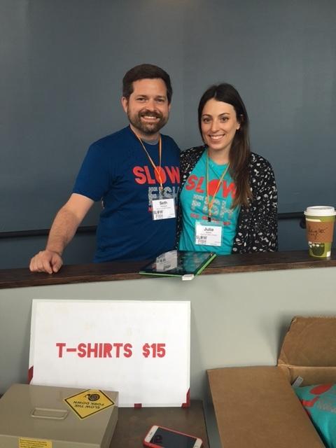 Slow Fish co-organizer Seth Hamstead with Julia Ballard, curator of the Global Shapers New Orleans hub.
