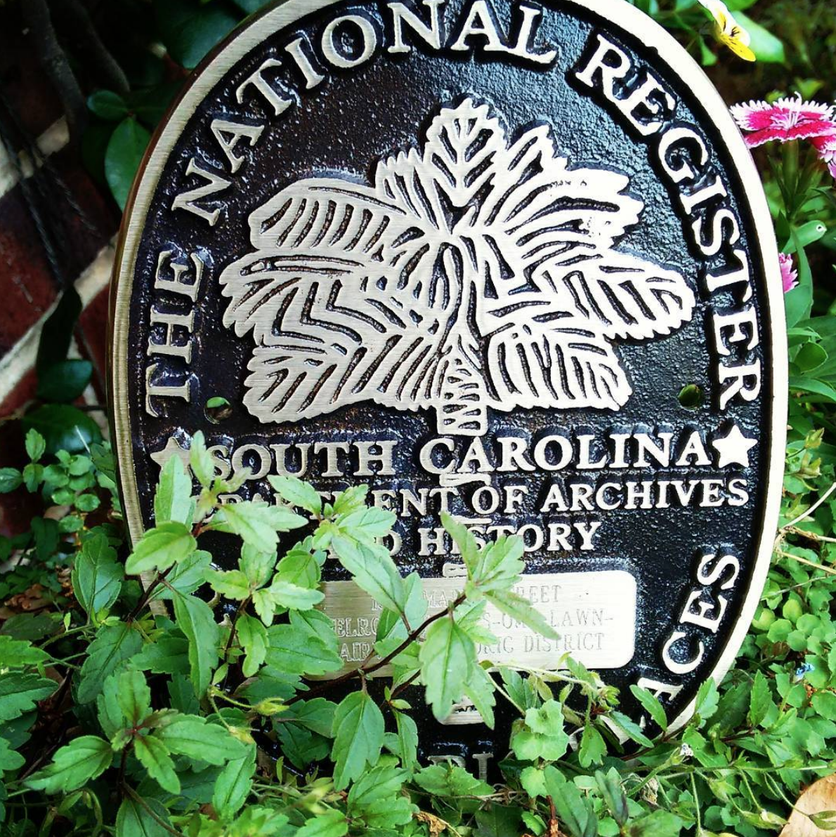 Order your plaque! - To order a National Register of Historic Places plaque for your house, first consult the NRHP document to verify that yours is a contributing property, then submit this form to the South Carolina Department of Archives and History. The official name of the property will be your street address and