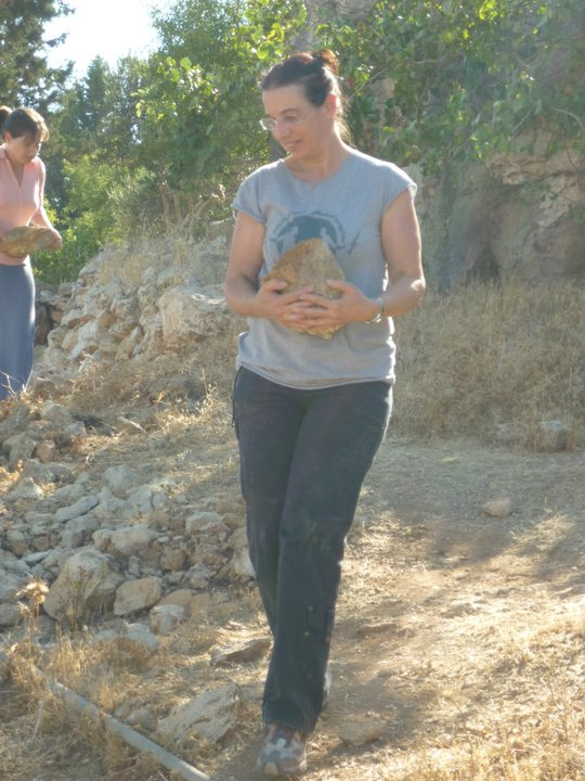 """""""I am working in a Palestinian village, helping to build terrace for cultivation of vegetables."""""""