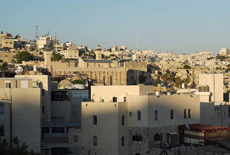 """This shows the Cave of Patriarchs in Hebron. """"I like it because it shows the nice structures of Hebron, and it shows the mosque, which means a lot to Muslims."""""""