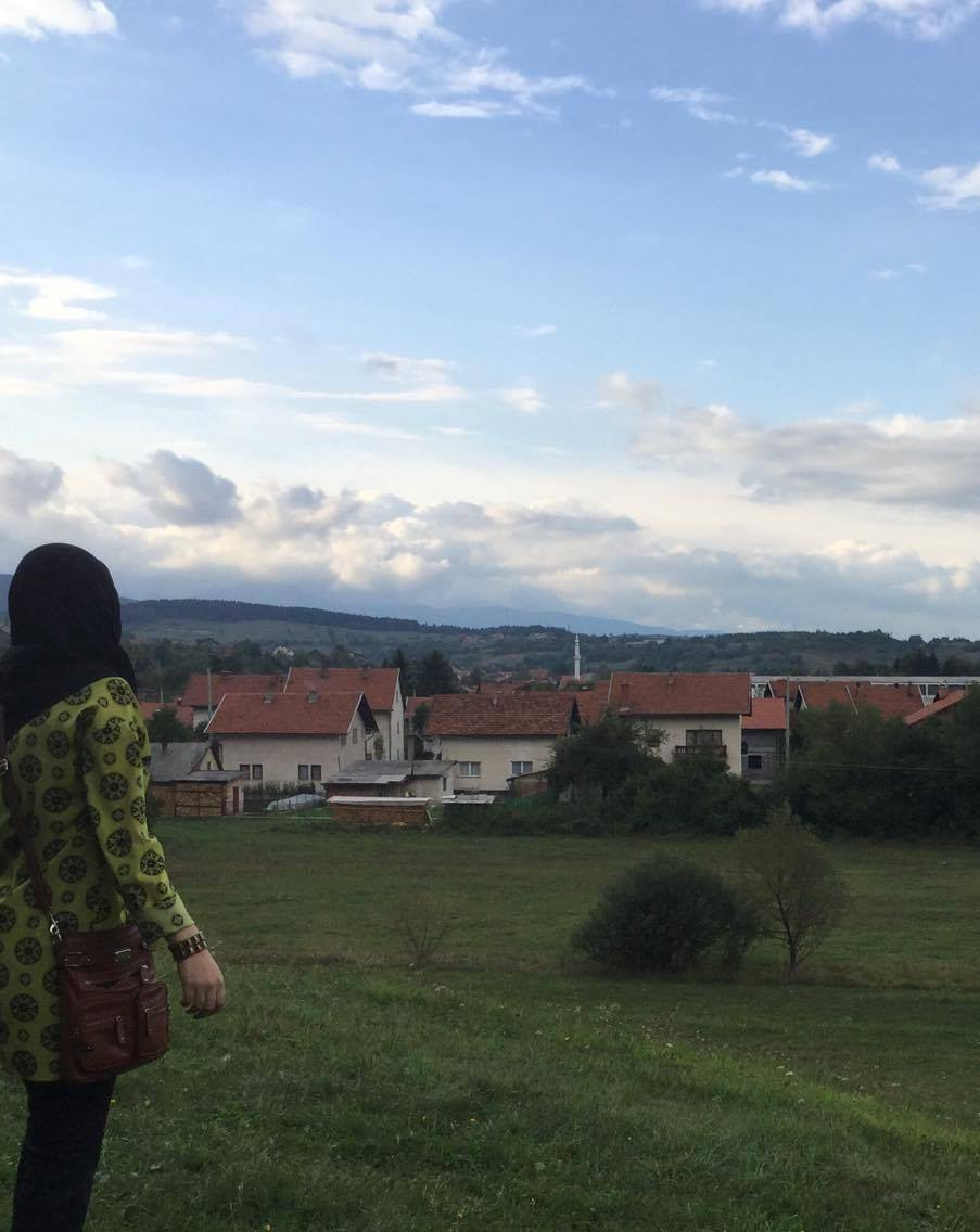 """Me in Bosnia. I love nature the most here."" Photo taken by Iltizam."
