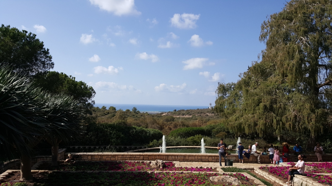 """Baron Rothshild's grave in Zikhron Ya'akov [Memorial Gardens in memory of Baron Rothschild]"""