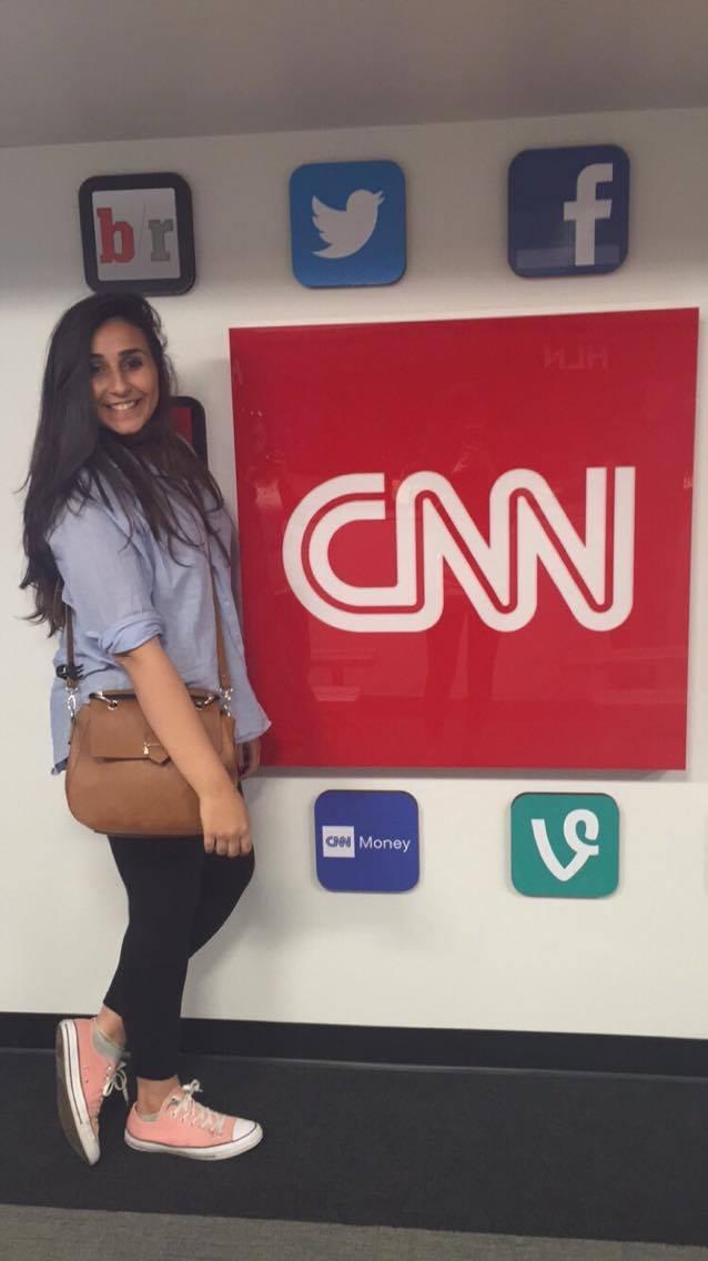 """At CNN in Atlanta, my dream place"""