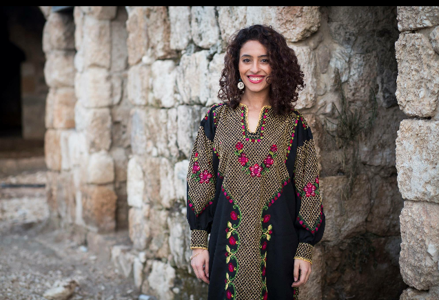 """""""In Lyd in Khan el Helw, a Palestinian place. It used to be a hotel for business men before Nakba. I took the picture for a Palestinian women project from Lyd at the International Women's Day at 2016."""""""