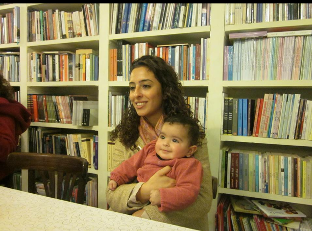 """""""Me and Neel when she was about half year. They shot us for a documentary film about Palestinian activism. I think it was taken in 2015."""""""