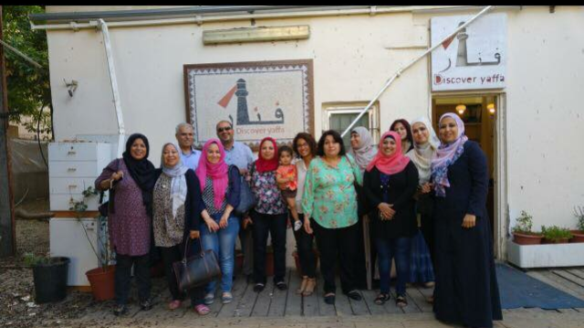 """""""With women from Gaza. They came to visit Palestinian feminist organizations. The photo here was taken in Jaffa at their last day."""""""