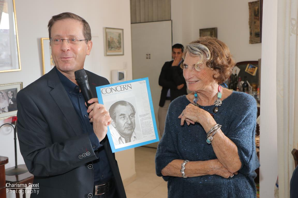 """With MK.Leader of Opposition in Knesset, Yitzhak Herzog"""