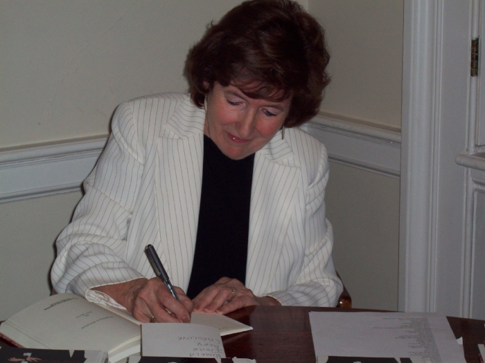 Jane at a book signing