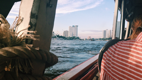 Dagboek van een werkloze. Chao Praya River Boat Express, Bangkok.