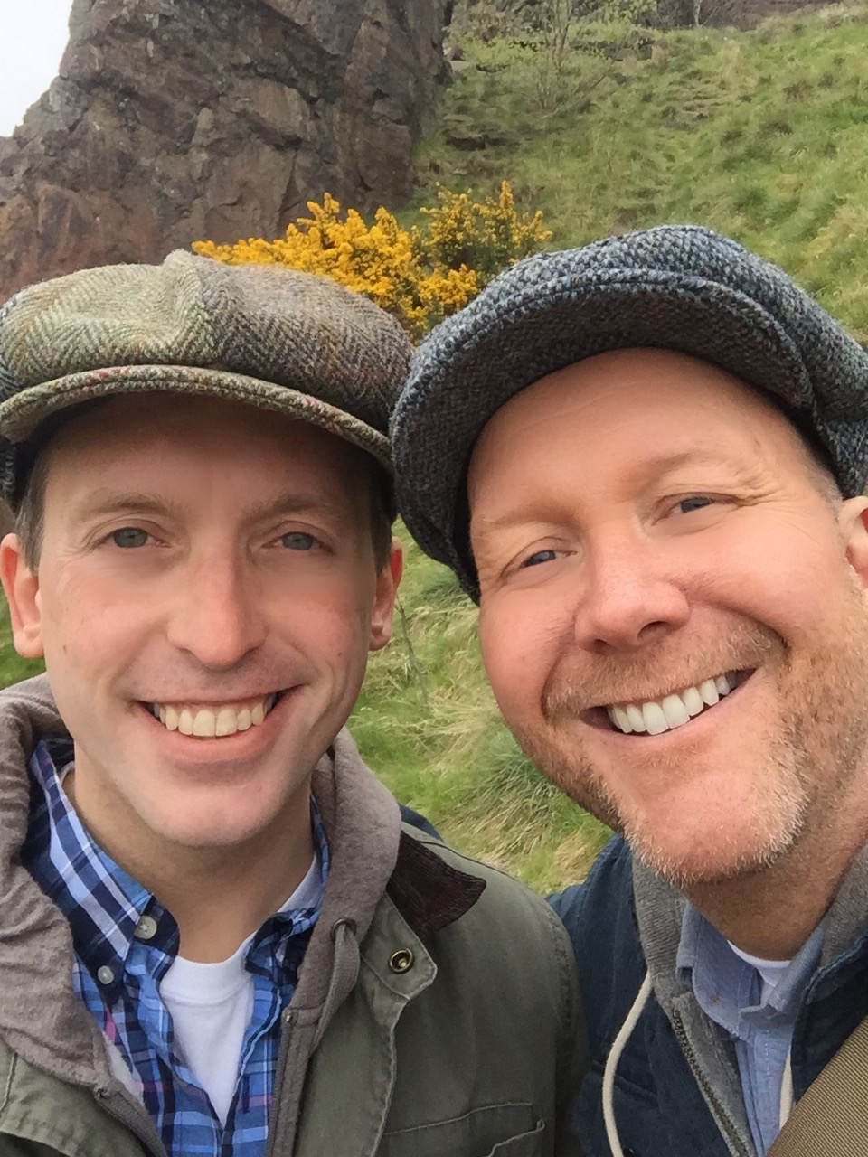 A selfie in the Scottish Highlands