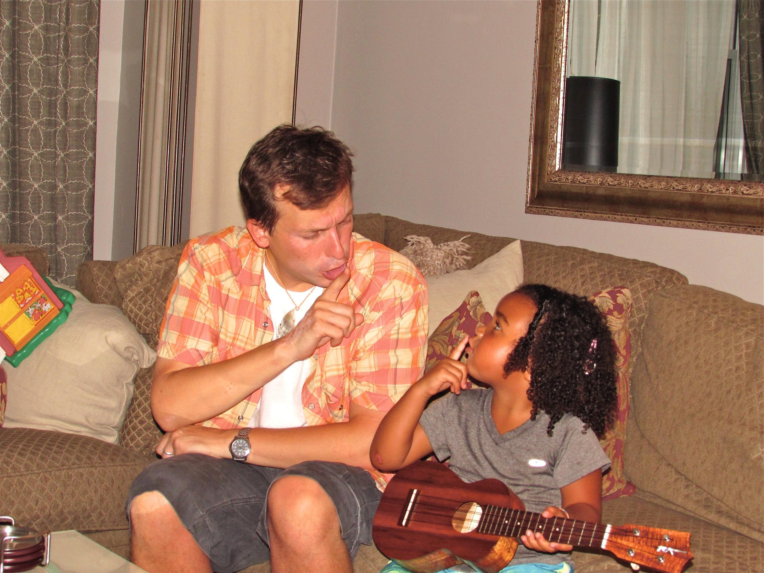 Jason teaching Marley a fun Hawaiian song