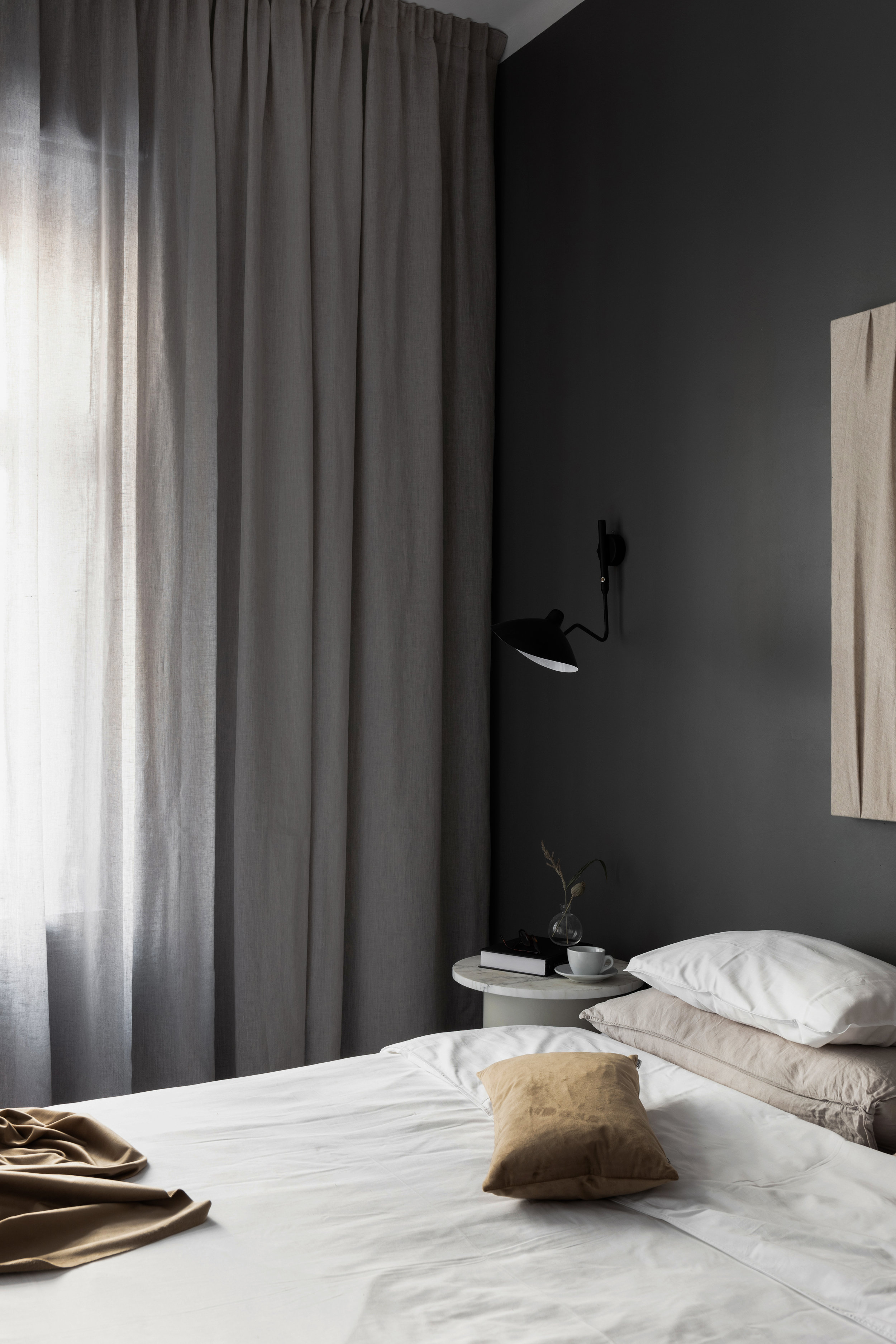 Gotain Curtains.  Styling and interior design, photo by Jesper Florbrant.
