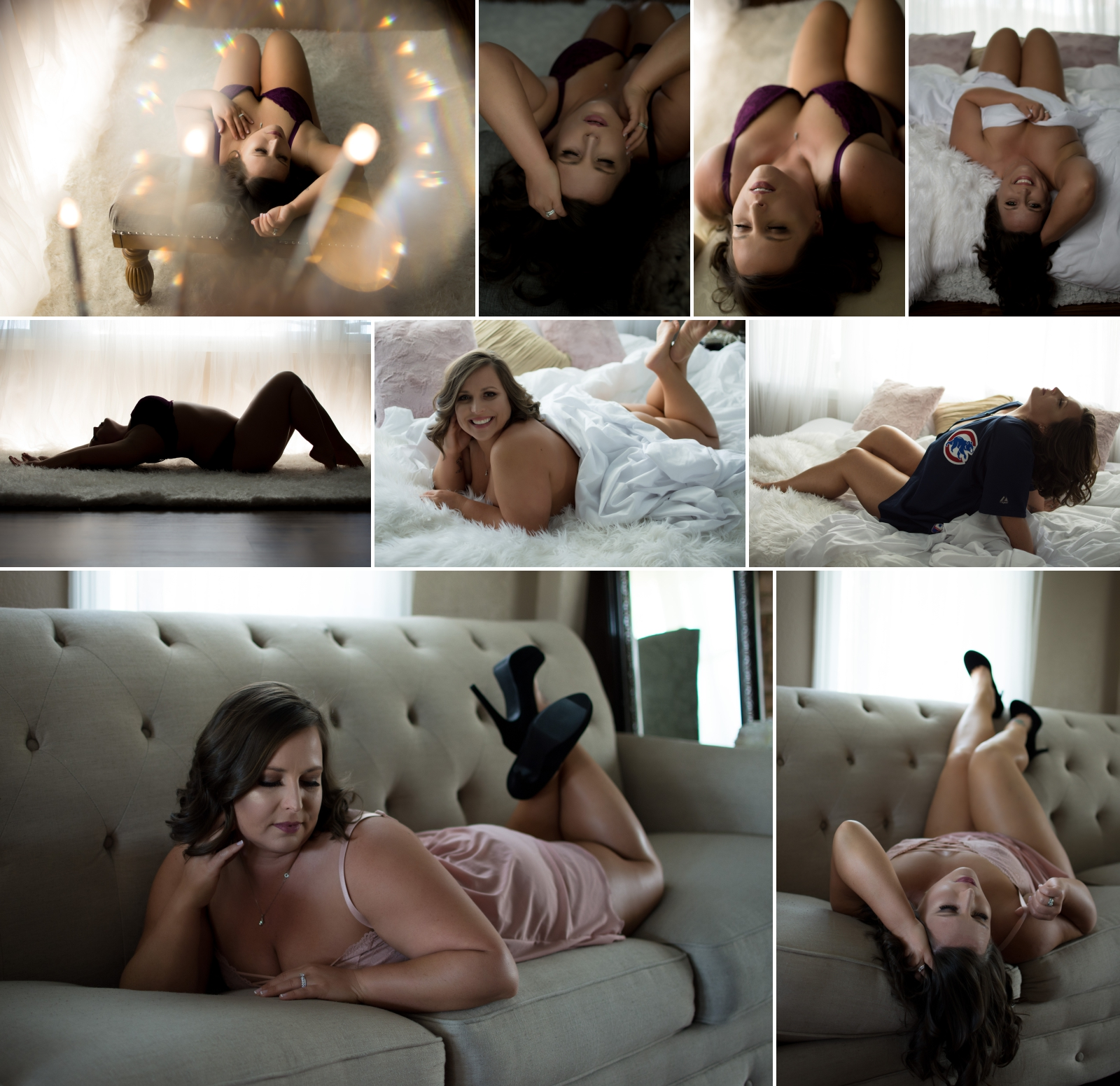 Photos from Heather's boudoir session