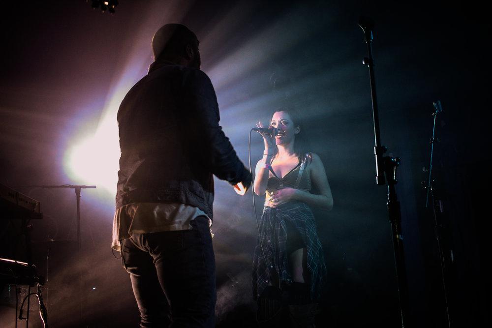 Walden and fiance, Meeko, performing Never. Photo by Jasmine Garcia.