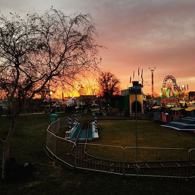 The sunset at the Ostrich Festival was amazing!! Of COURSE I forgot my camera,  so phone pics will have to do!