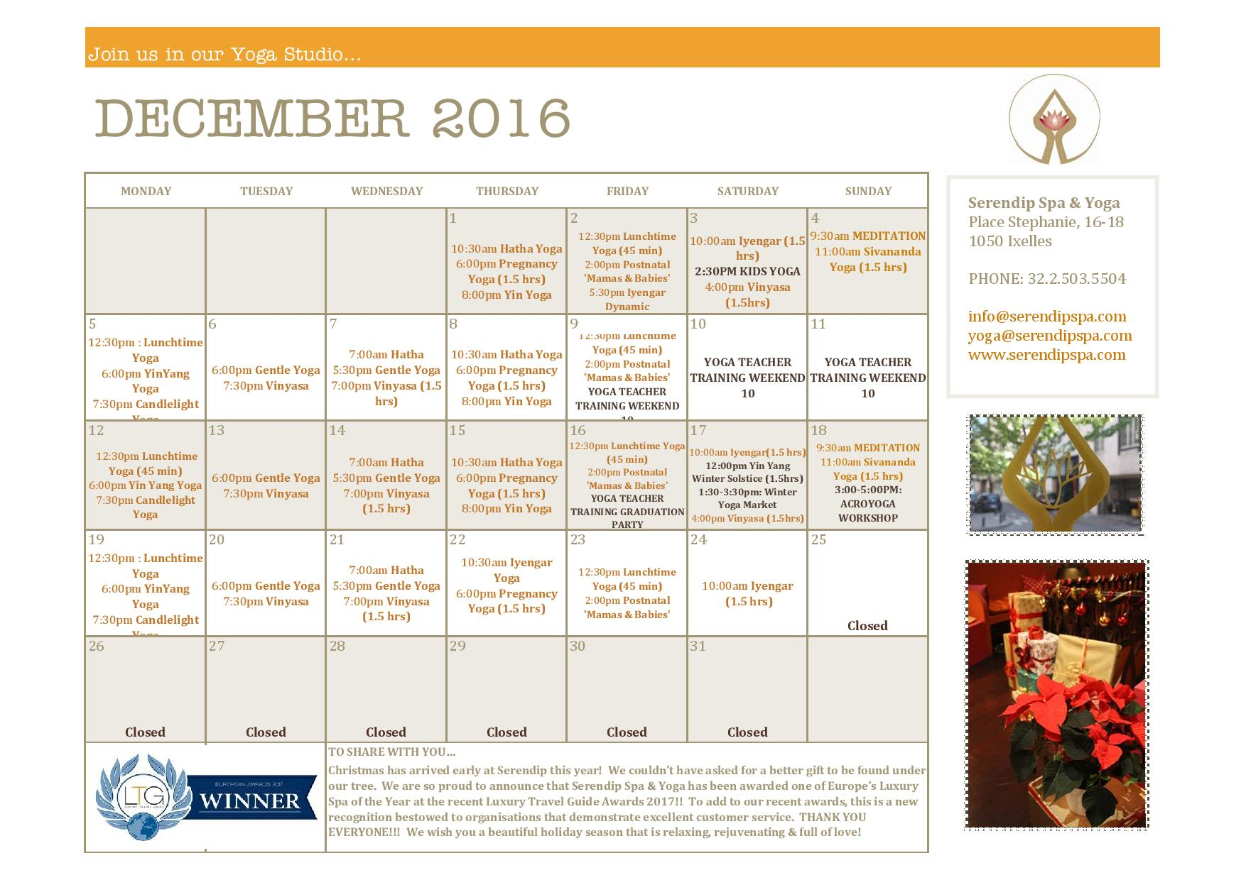 Serendip Spa and Yoga Calendar 2016_December_A4 FRONT-page-001.jpg