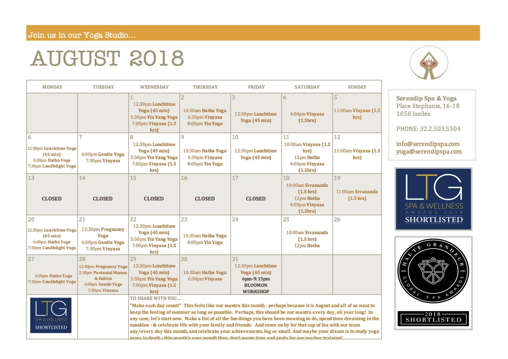 serendip spa and yoga calendar 2018_August A4 FRONT.jpg