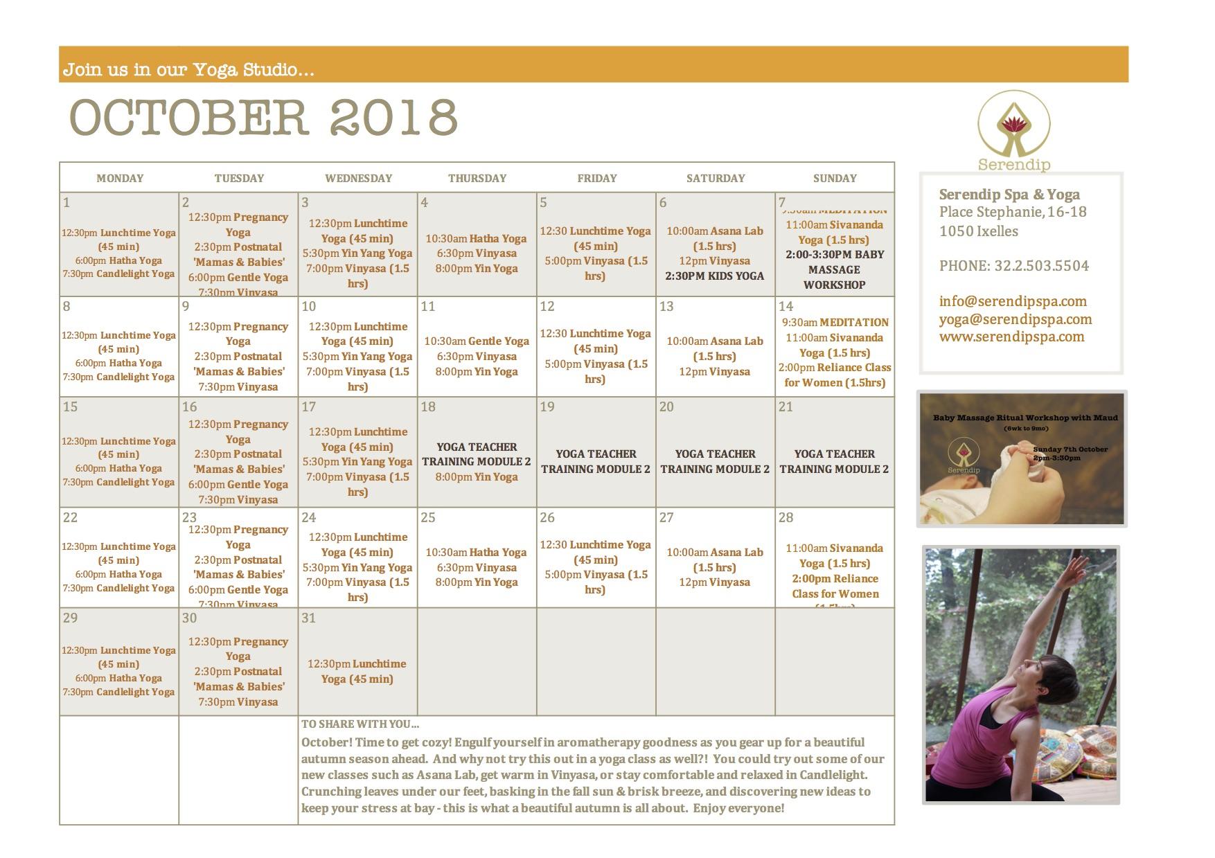serendip spa and yoga calendar 2018_October A4 FRONT.jpg