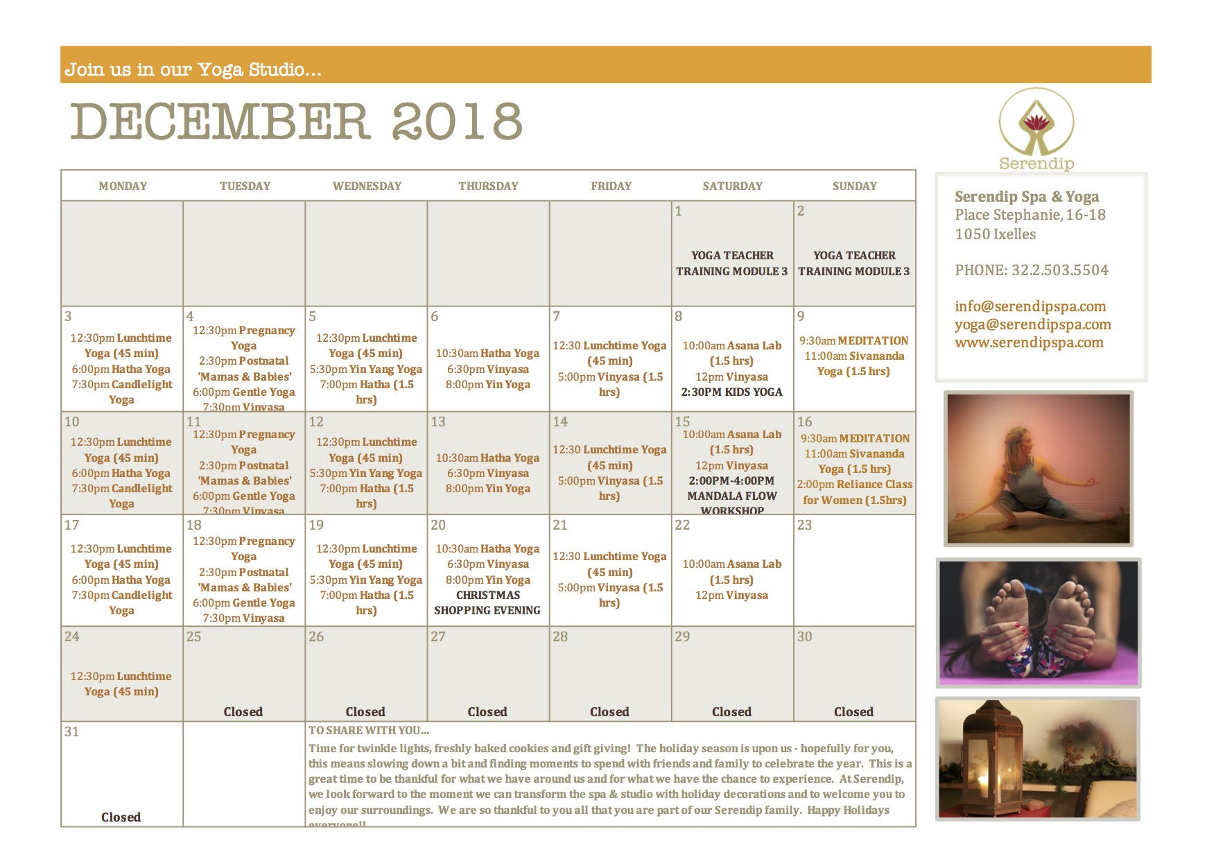 serendip spa and yoga calendar 2018_December A4 FRONT.jpg