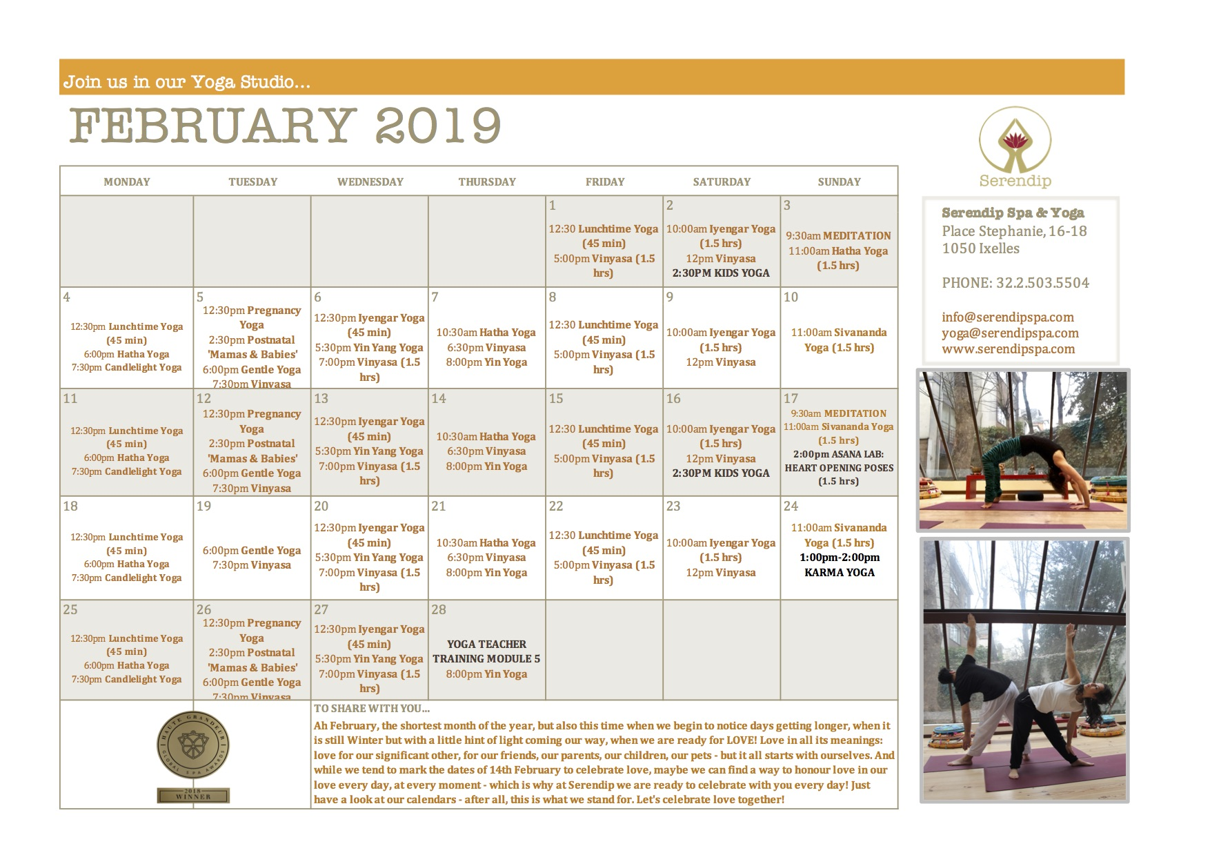 serendip spa and yoga calendar 2019_ February A4 FRONT.jpg