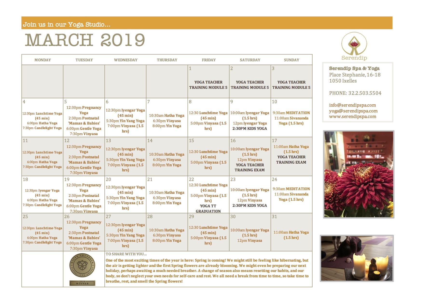 serendip spa and yoga calendar 2019_March A4 FRONT.jpg