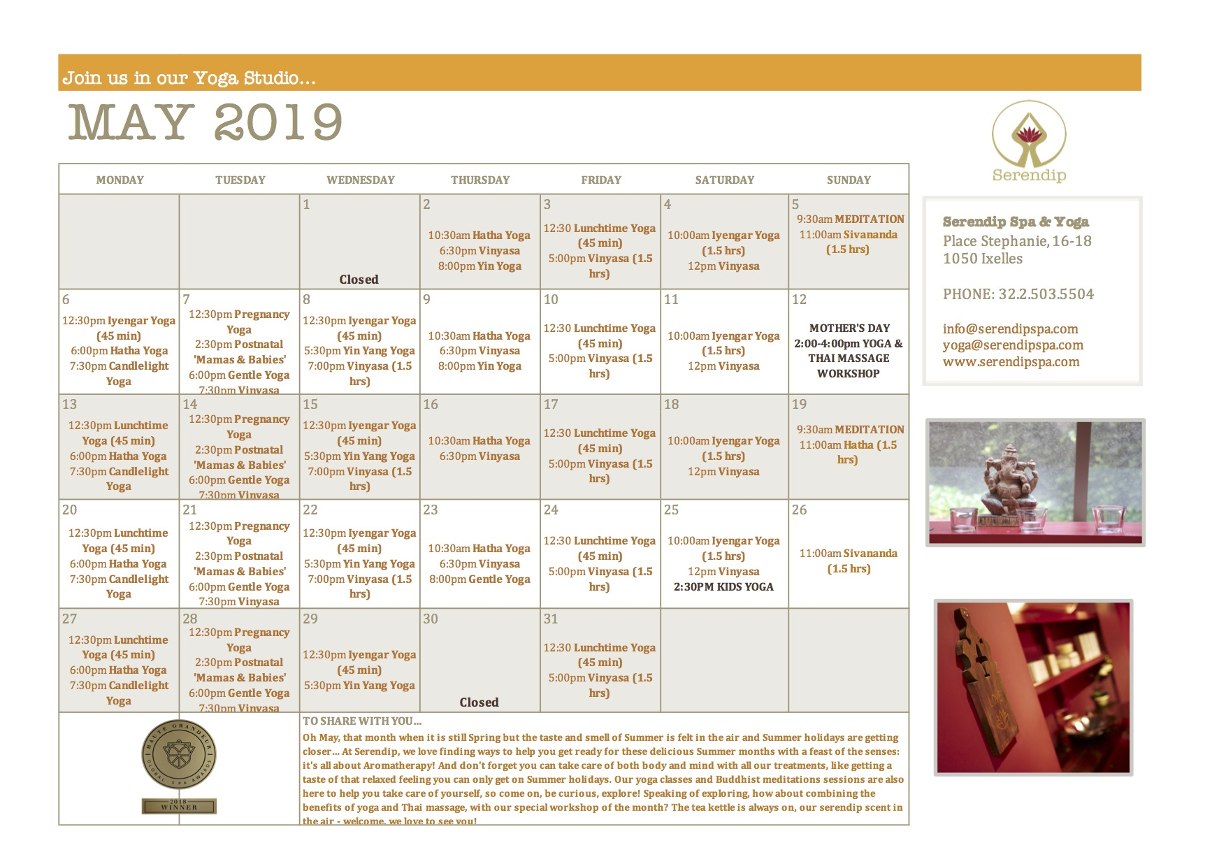 serendip spa and yoga calendar 2019_May A4 FRONT.jpg