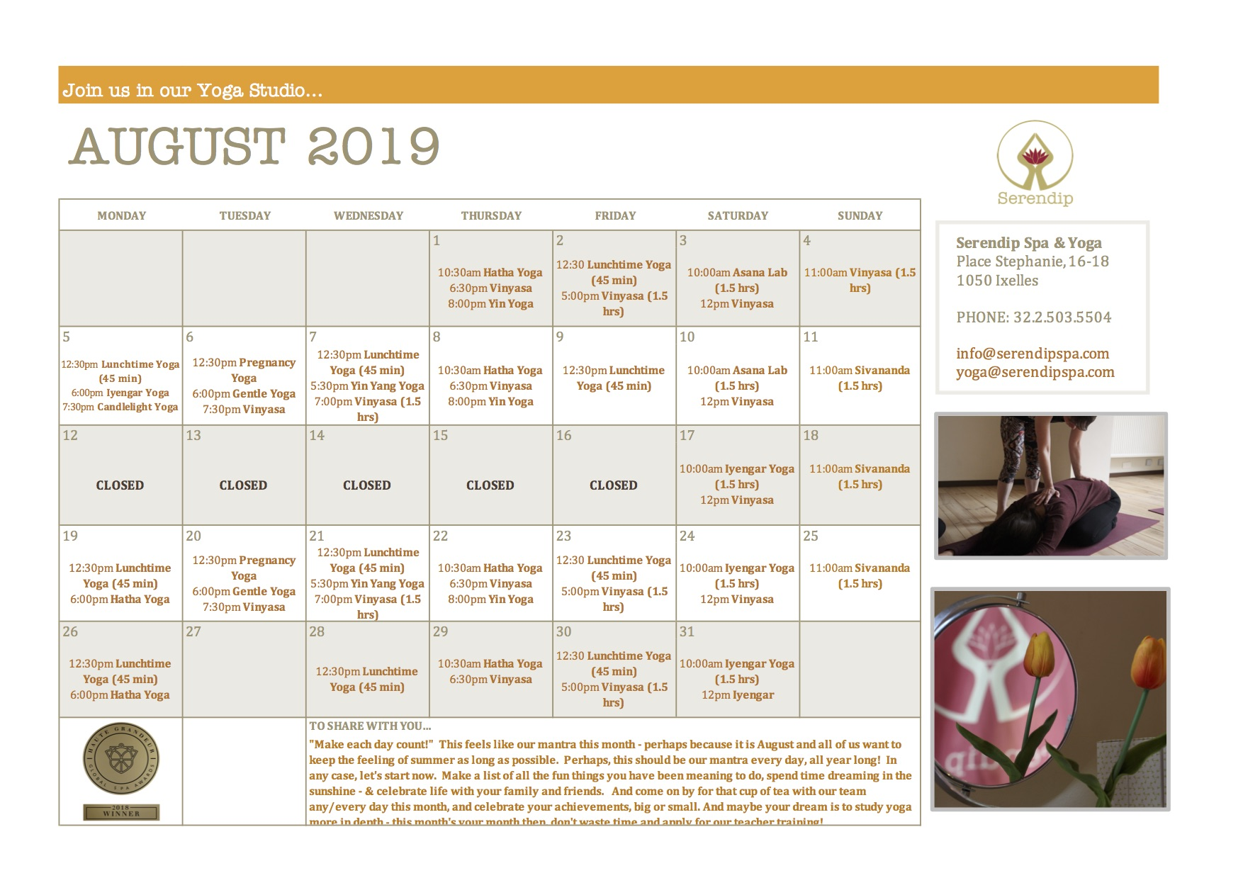 serendip spa and yoga calendar 2019_August A4 FRONT.jpg