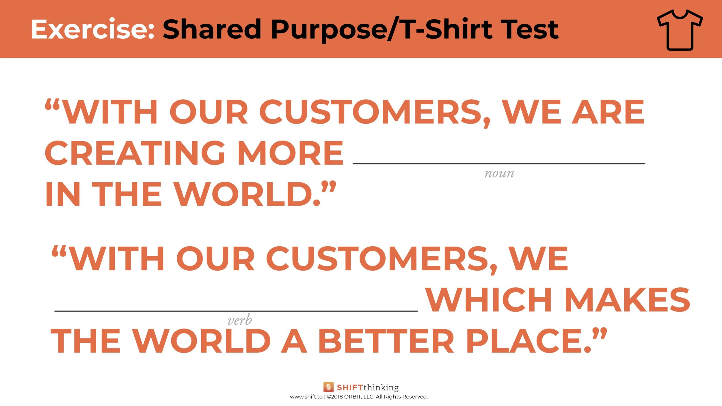 Shared Purpose T Shirt Text Fill In